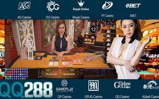 Sòng bài tại QQ288 có đa dạng các trò như blackjack 21, roulette, sicbo,..