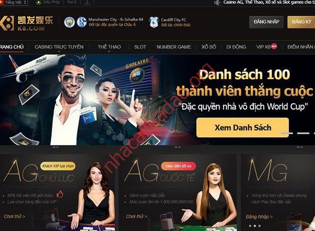 K8 được hậu thuẫn bởi tập đoàn Asia Gaming