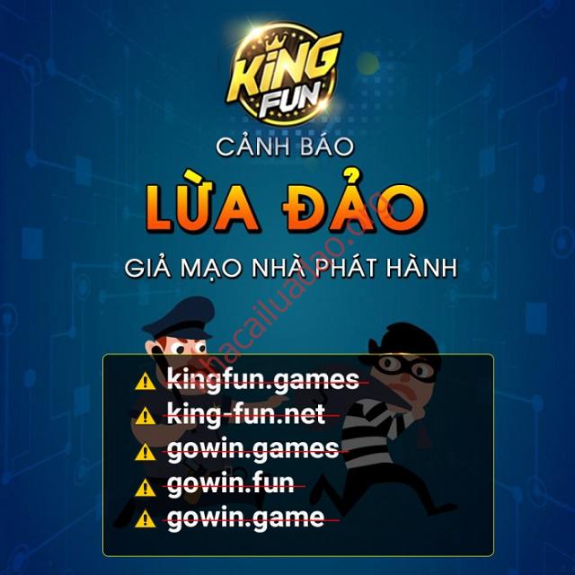 Các trang web giả mạo nhà cái King Fun