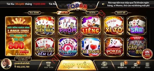 Cổng game Top88 hoàn toàn không có hành vi lừa đảo game thủ